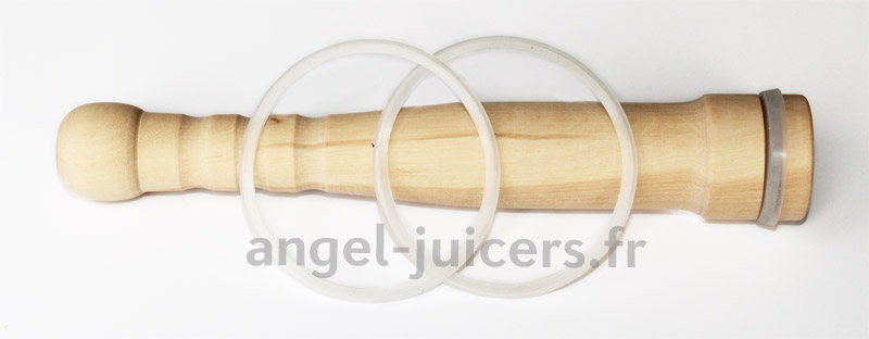 Silicon Wooden Pusher with 2 silicon rings